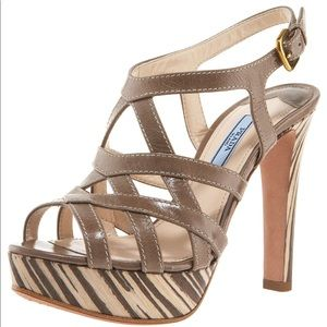 Prada platform heels sandals